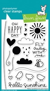 Lawn Fawn HELLO SUNSHINE Clear Stamps LF651