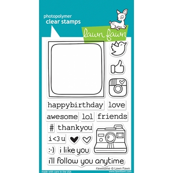 Lawn Fawn #AWESOME Clear Stamps LF652