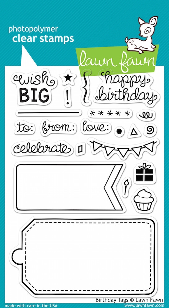 Lawn Fawn BIRTHDAY TAGS Clear Stamps LF663 zoom image