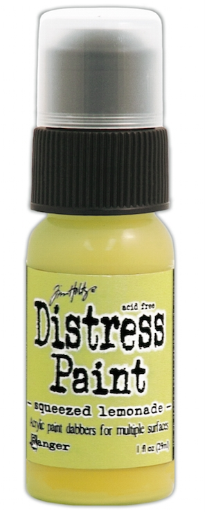 Tim Holtz Distress Paint SQUEEZED LEMONADE Ranger TDD38870 zoom image