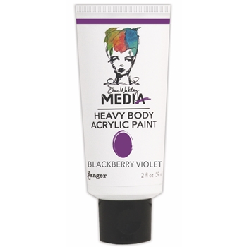 Dina Wakley Ranger BLACKBERRY VIOLET Media Heavy Body Acrylic Paints MDP41078*