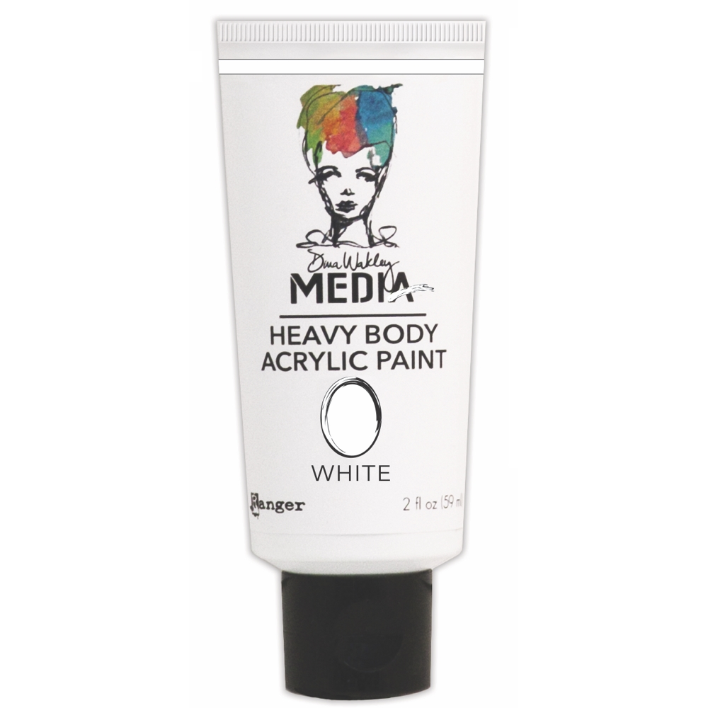 Dina Wakley Ranger WHITE Media Heavy Body Acrylic Paints MDP41184 zoom image