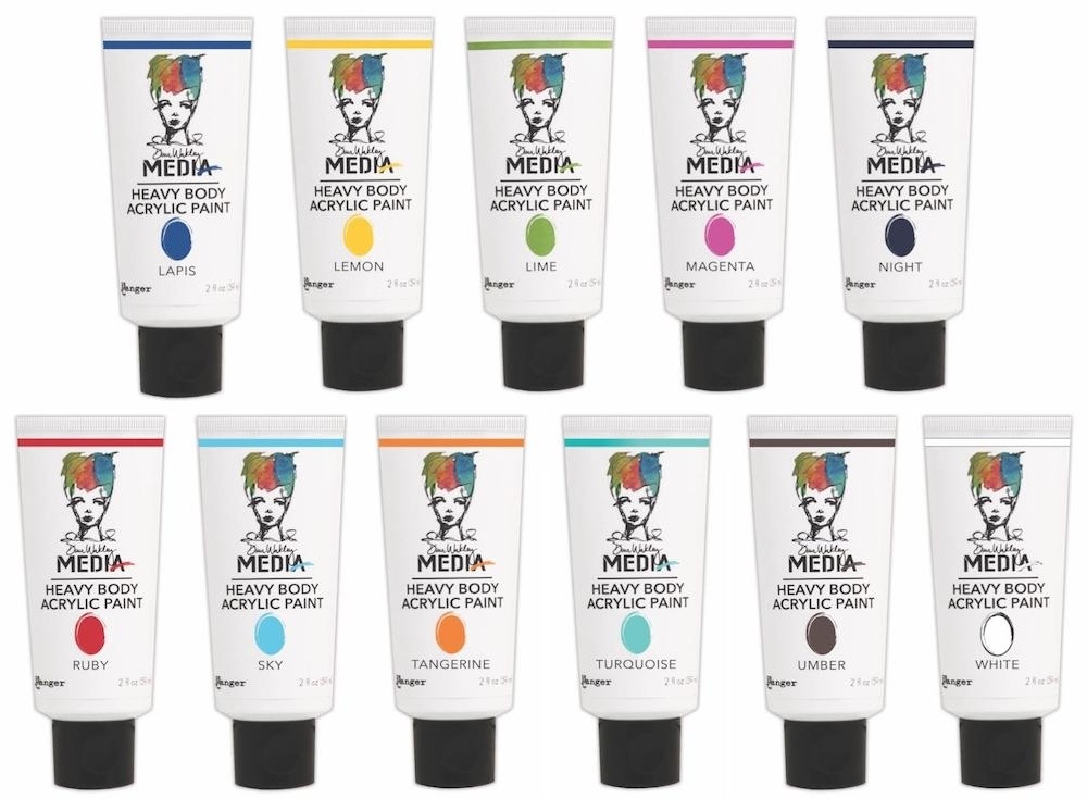 Dina Wakley Ranger PAINT SET OF 11 Media Heavy Body Acrylic MHBA12 zoom image