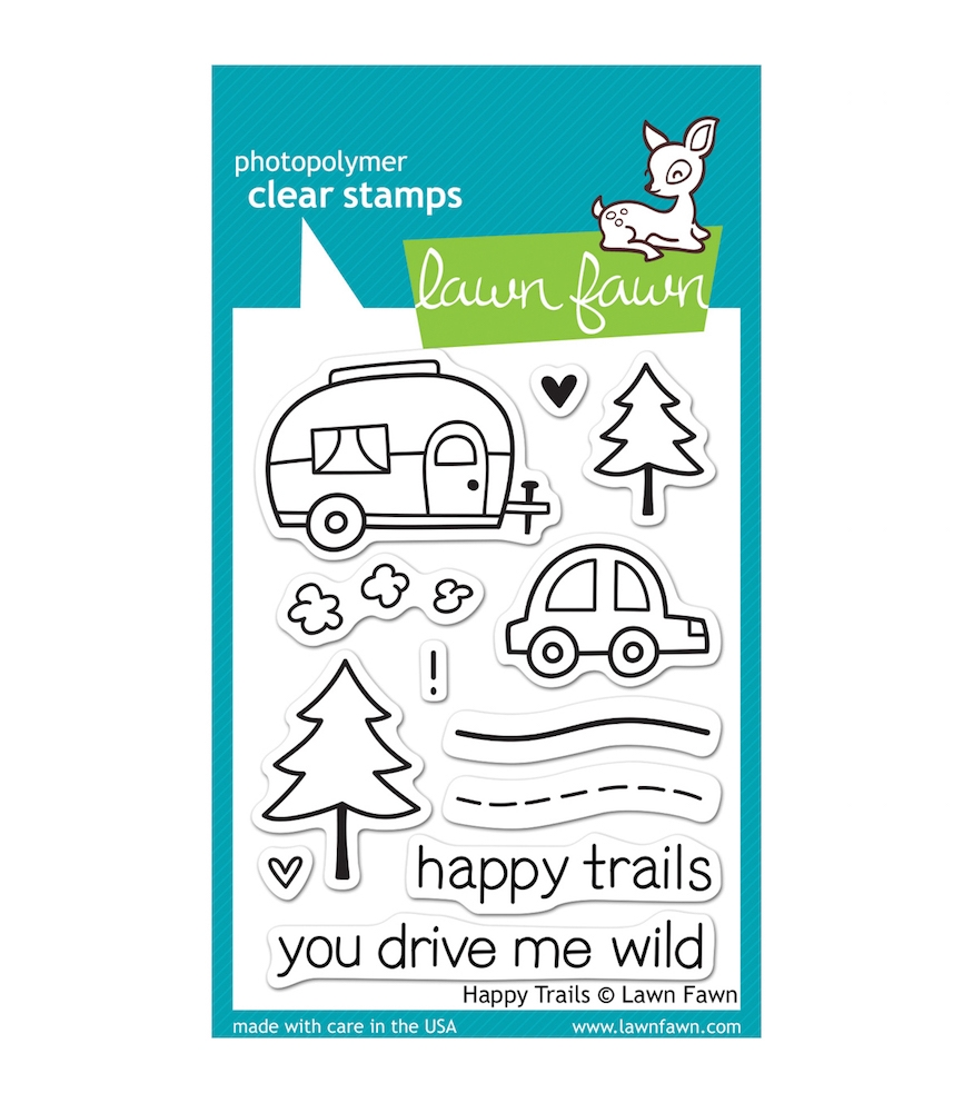 Lawn Fawn HAPPY TRAILS Clear Stamps LF601 zoom image