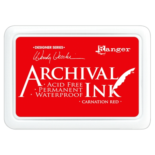Ranger Wendy Vecchi Archival CARNATION RED Ink Pad AID41399 Preview Image