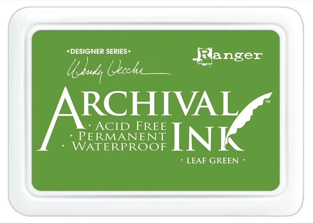 Ranger Wendy Vecchi Archival LEAF GREEN Ink Pad AID41436 zoom image