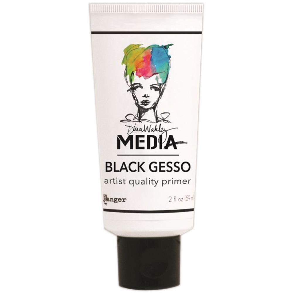 Dina Wakley Ranger BLACK GESSO 2 OZ. TUBE Media MDM41702 zoom image