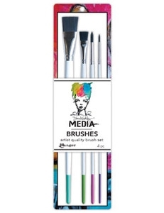Dina Wakley Ranger STIFF BRISTLE BRUSHES 4 PACK Media MDA41627* Preview Image