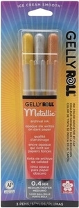 Sakura METALLIC GELLY ROLL 3 Pack Medium Point Pens 57387 zoom image