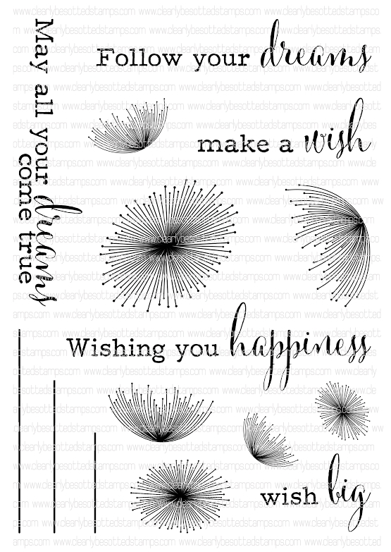 Clearly Besotted DANDELION DREAMS Clear Stamp Set  zoom image