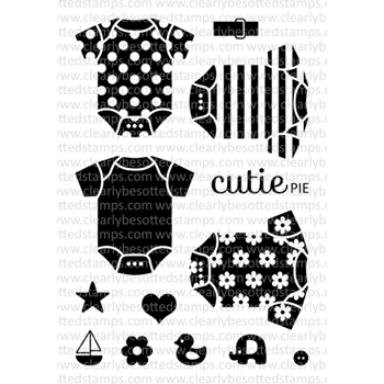 Clearly Besotted LITTLE ONESIE Clear Stamp Set