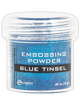 Ranger Embossing Powder BLUE Tinsel EPJ41030
