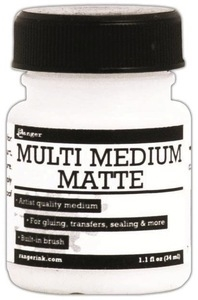 Ranger 1 OZ MULTI MEDIUM MATTE Jar With Brush INK41528