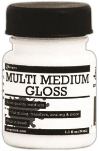 Ranger 1 OZ. MULTI MEDIUM GLOSS Jar With Brush INK41559