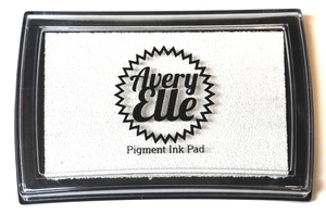 Avery Elle PURE WHITE Pigment Ink Pad 020863