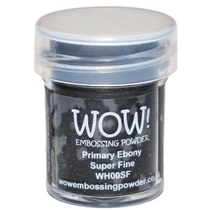 WOW Embossing Powder PRIMARY EBONY SUPER FINE WH00SF