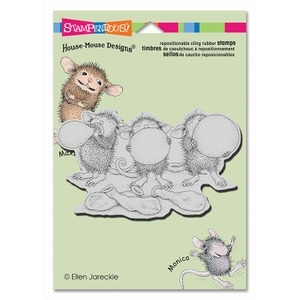 Stampendous Cling Stamp BALLOON TRIO Rubber UM HMCP11 House Mouse* Preview Image