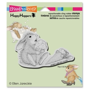 Stampendous Cling Stamp ICE CREAM LICK Rubber UM HHCM01 House Mouse zoom image