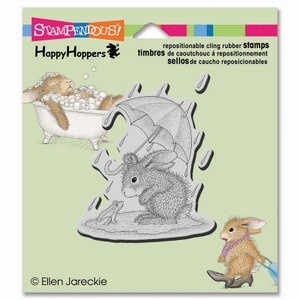 Stampendous Cling Stamp PUDDLE FUN Rubber UM HHCV03 House Mouse Preview Image