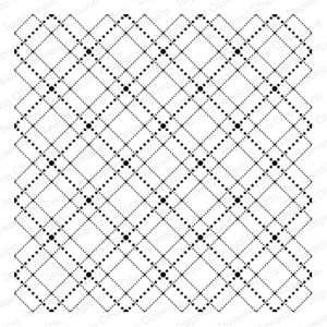 Impression Obsession Cling Stamp DOTTED ARGYLE CC175 zoom image