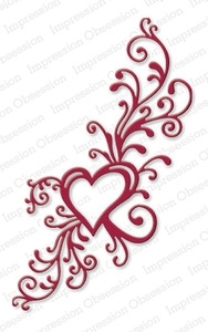 Impression Obsession Steel Die HEART FLOURISH DIE126-U Preview Image