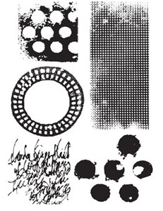 Dina Wakley TEXTURES Media Cling Rubber Stamp MDR41344 zoom image
