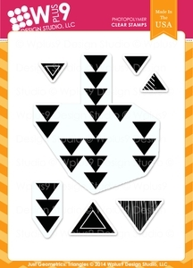 Wplus9 JUST GEOMETRICS TRIANGLES Clear Stamps CL-WP9JGT