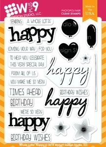 Wplus9 WHOLE LOTTA HAPPY Clear Stamps CL-WP9WLH