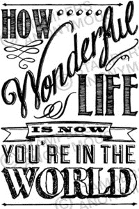 Tim Holtz Rubber Stamp WONDERFUL LIFE Stampers Anonymous P4-2306 Preview Image