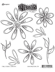 Dyan Reaveley FANCY FLORALS Cling Stamp DYR40941 Preview Image