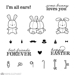 Mama Elephant Clear Stamp HONEY BUNNY Set