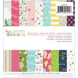 Imaginisce WELCOME SPRING 6 x 6 Paper Pad 400595