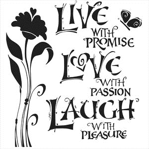 The Crafter's Workshop SMALL LIVE LOVE LAUGH 6x6 Template TCW467S Preview Image