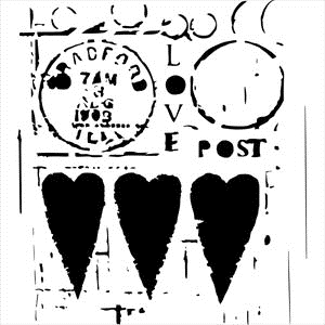 The Crafter's Workshop SMALL LOVE POST 6x6 Template TCW455S* zoom image