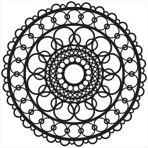 The Crafter's Workshop SMALL RING DOILY 6x6 Template TCW460S zoom image