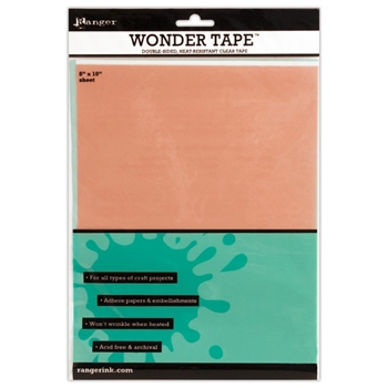 Ranger Inkssentials WONDER TAPE SHEET Double Sided 8 X 10 IWT27409