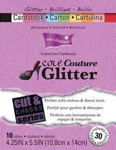 Core'Dinations CORE COUTURE 4.25 x 5.5 Glitter Cardstock 80lb 40 Sheets GX-1760-01