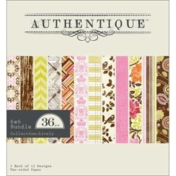 Authentique 6 x 6 LIVELY Paper Pad LIV009* Preview Image