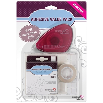 Scrapbook Adhesives ADHESIVE ESSENTIALS KIT Value Pack 01698*