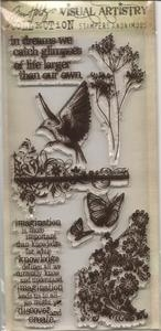Tim Holtz Visual Artistry FLIGHTS OF FANCY Clear Stamps Set  CSS25856