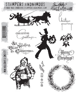 Tim Holtz Cling Rubber Stamps MINI HOLIDAYS 5 cms177