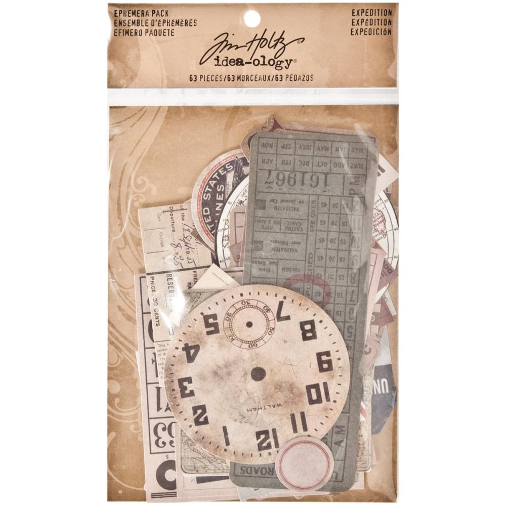 Tim Holtz Idea-ology Ephemera Pack EXPEDITION TH93115 zoom image