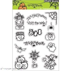 Penny Black Clear Stamps TRICK OR TREAT Halloween 30-005*