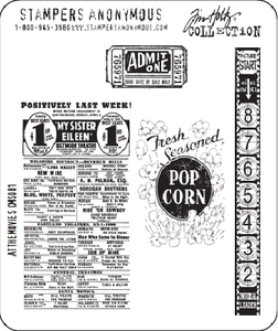 Tim Holtz Cling Rubber Stamps AT THE MOVIES Stampers Anonymous CMS081