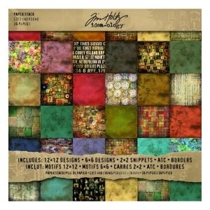 Tim Holtz Idea-ology 12 x 12 Paper Stash LOST AND FOUND TH92825