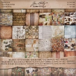 Tim Holtz Idea-ology 12 x 12 Paper Stash DESTINATIONS TH93004
