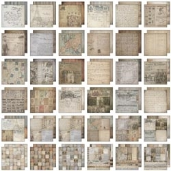 Tim Holtz Idea-ology 12 x 12 Paper Stash FRENCH INDUSTRIAL TH93052