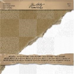 Tim Holtz Idea-ology 12 x 12 Paper Stash MOTIF Cardstock Pack TH93112