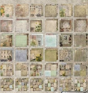 Tim Holtz Idea-ology 12 x 12 Paper Stash WALLFLOWER Cardstock Pack TH93110 zoom image
