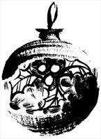 Penny Black Christmas Rubber Stamp HOLLY DECOR 2794f
